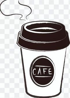テイクアウトコーヒー白