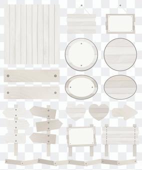 Wooden decoration set ♡ White
