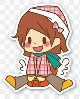 【密封】女孩*雪橇