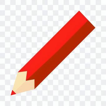 紅色的鉛筆圖標說明