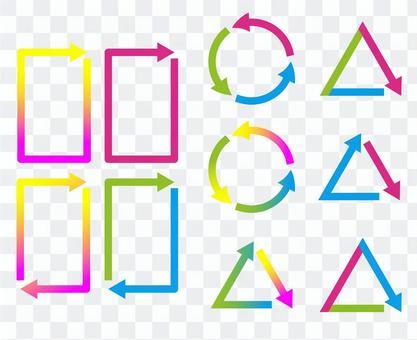 Arrow frameset colorful