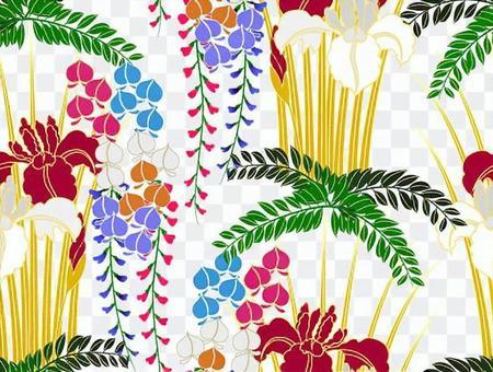 ai蘭花圖案與色板