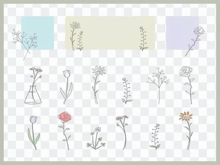 春天簡單的花