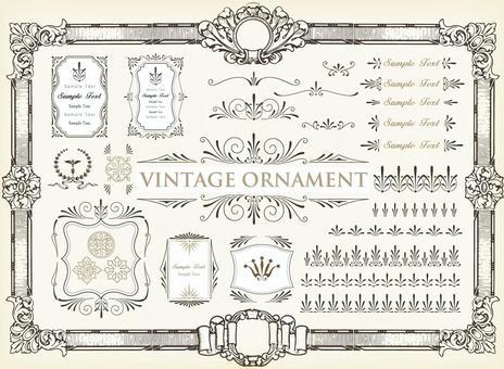 Vintage ornament set 47