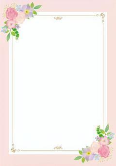 花裝飾框架A 4