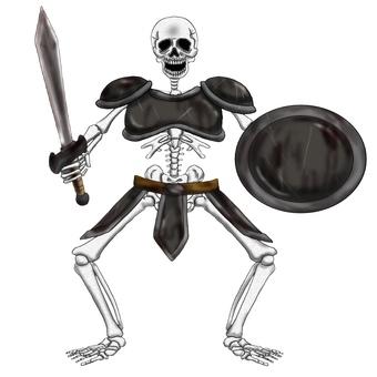 骷髏劍盾盔甲裝備
