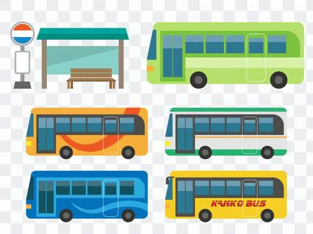 巴士站和各種巴士