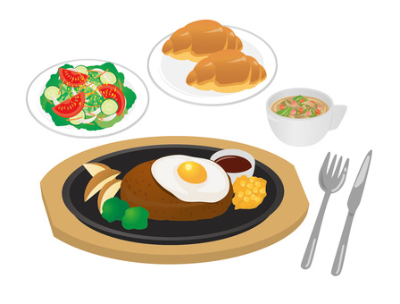 Set_hamburger 01 麵包