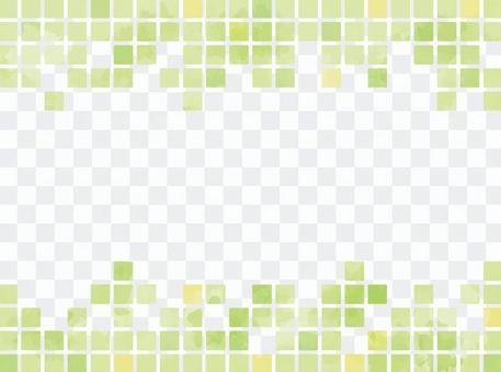 水彩般的瓷磚狀材料綠色
