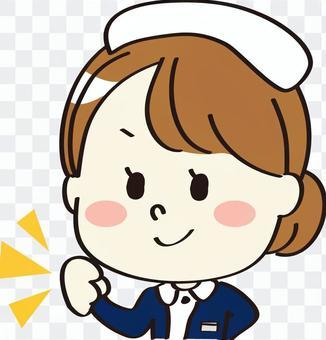 在醫療保健工作的婦女海軍戰鬥