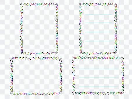 多彩的鉤框架