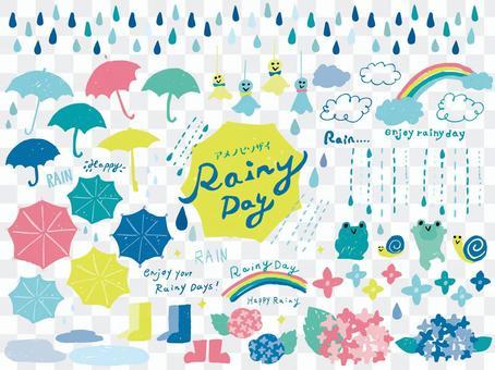 雨の日素材