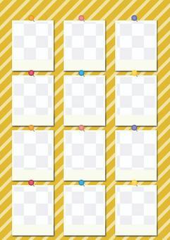Pop Polaroid Photo Frame Alignment_Yellow