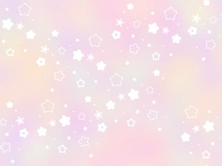 粉色帶花卉圖案的牆紙