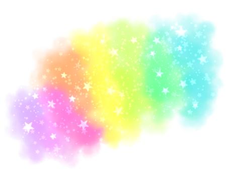 閃光彩虹框