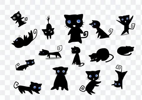 猫素材(黒猫)