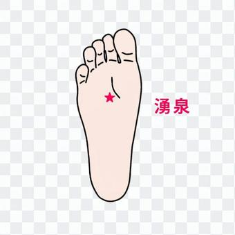Foot acupoint-spring