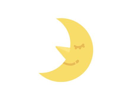 面對月亮圖標