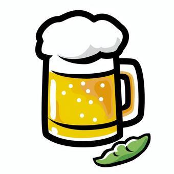 啤酒和毛豆