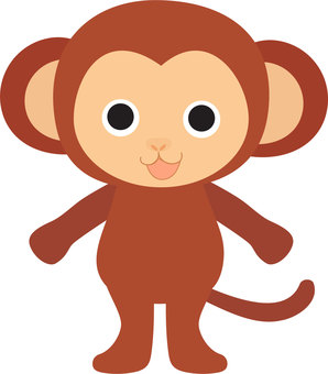 Bipedal monkey illustration