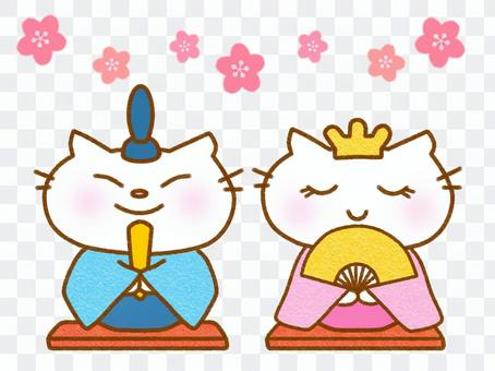Hinamatsuri白貓