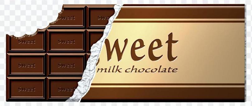 咬紙板巧克力_銀紙與包裝紙