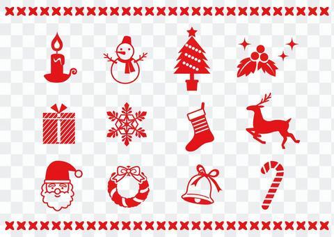 聖誕節圖標材料