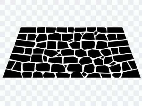石垣 シルエット