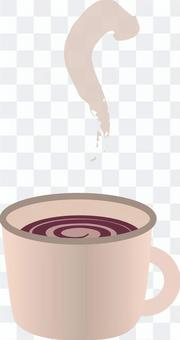Cocoa with steam