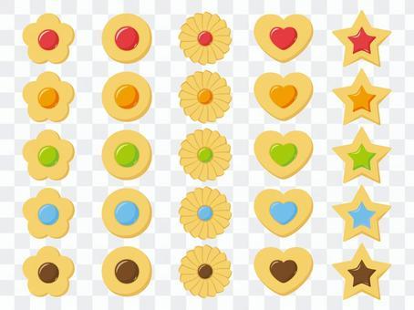 多彩果凍餅乾