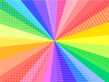 帶有圖案的旭日彩虹