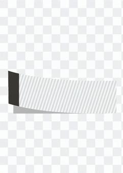 粘性垂直条纹(黑色和白色)