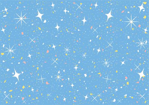 可愛的彩色紙屑和閃光