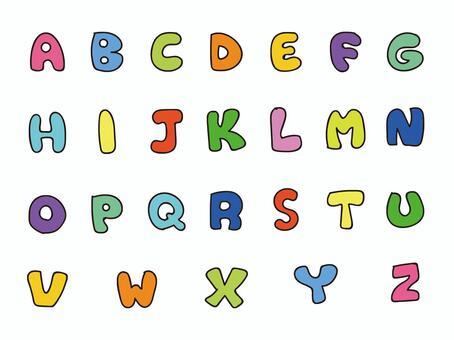手寫字母大寫字母顏色設置2