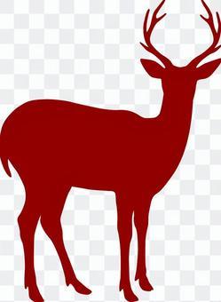 Deer _ Silhouette _ Brown