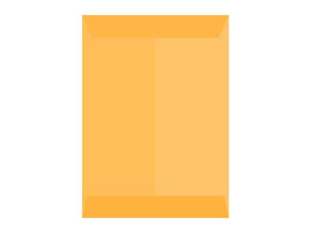 密封的方形2號茶葉信封的背面
