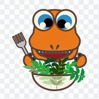 Dinosaur meal