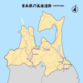 青森高速公路日本地圖