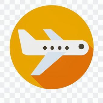 Flat icon - Airplane