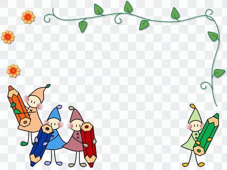 童年彩色鉛筆_框架
