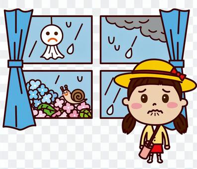 雨で遠足中止