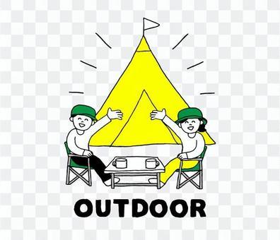キャンプ場(シンプル)