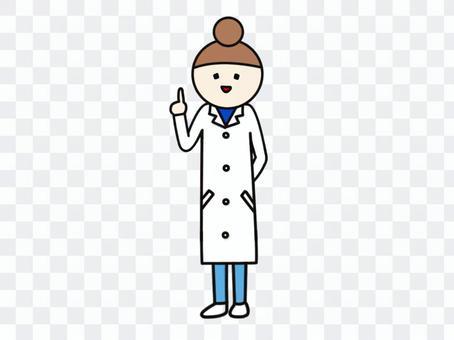White female index finger whole body