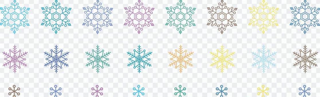 Snow crystal colorful list