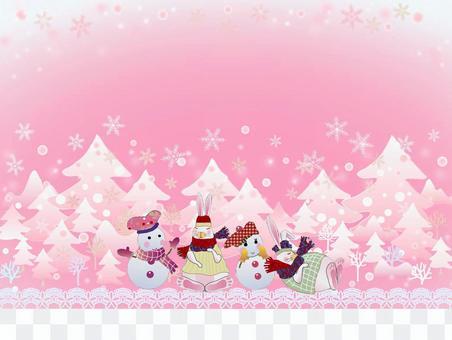 雪だるま_友だち02