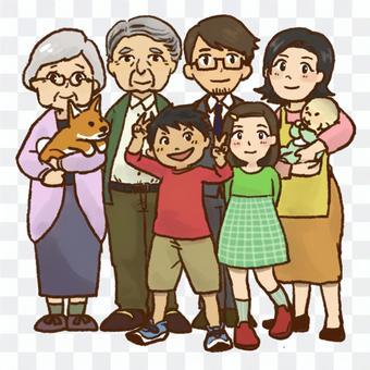 3代家庭合影