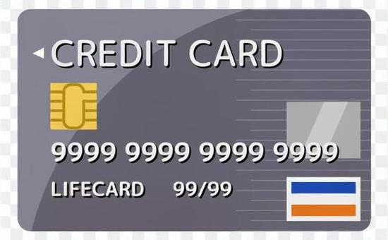 信用卡_灰色_無電線