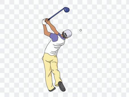 Golfer 1 (Driver Shot)