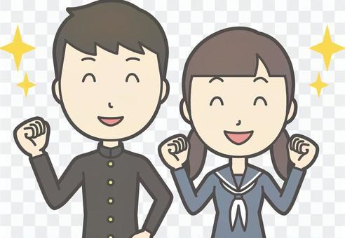 中学生男女セット-051-バスト