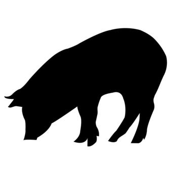 Pig silhouette (black)